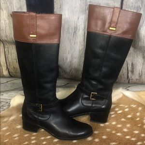 Bandolino Black And Brown Riding Boots Size 8